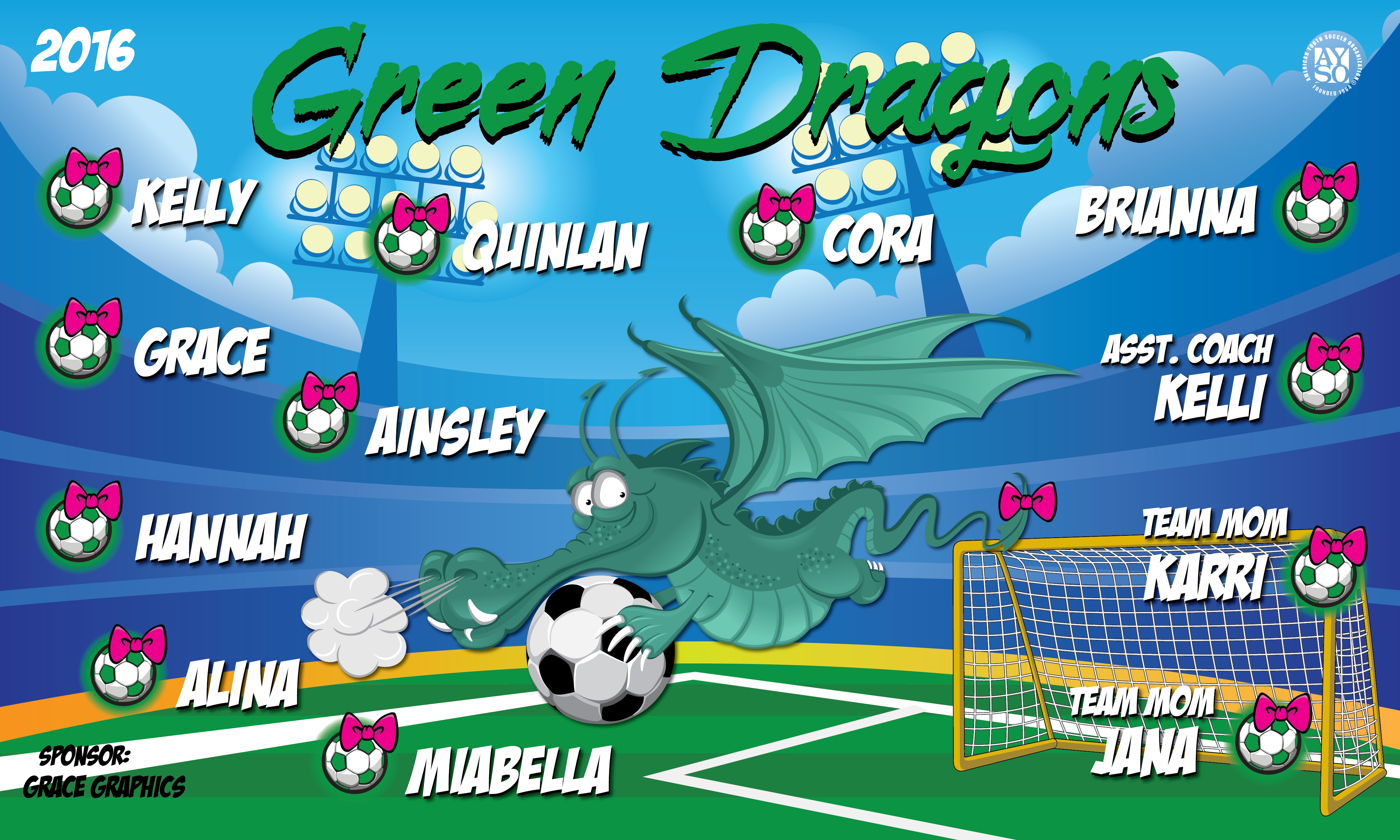Green Dragons Banners Industrial Training Banners