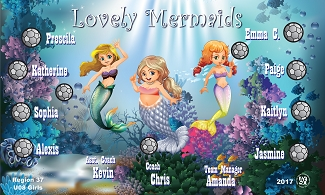 B2478 Lovely Mermaids 3x5 Banner