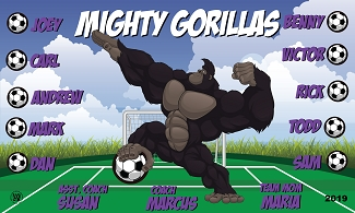 B2514 Mighty Gorillas 3x5 Banner