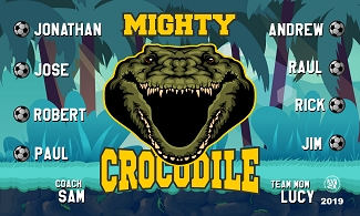 B2518 Mighty Crocodiles V2 3x5 Banner