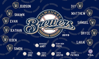 B2472 Brewers 3x5 Banner