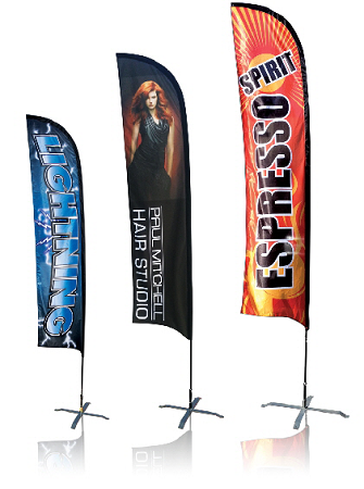 Feather Banner 15Ft Single sided