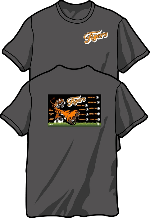 Sports / Team Gift T-Shirt Pocket Front and Full Back