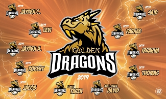 B2436 Golden Dragons 3x5 Banner