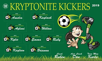 B2438 Kryptonite Kickers 3x5 Banner