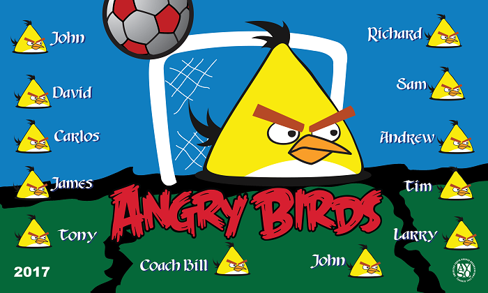 B2179 Angry Birds Yellow 3x5 Banner
