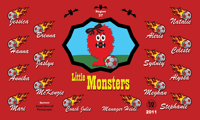B1107 Little Monsters 3x5 Banner