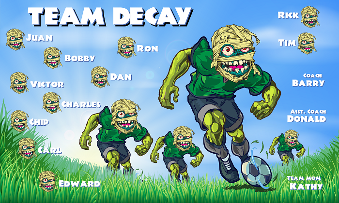 B1473 Team Decay 3x5 Banner