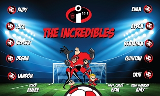B2347 The Incredibles 3x5 Banner