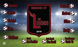 B2348 Legends 3x5 Banner