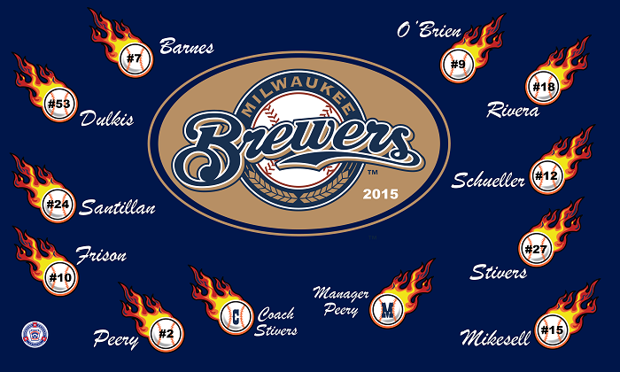 B1390 Brewers 3x5 Banner
