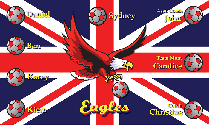B1055 British Eagles 3x5 Banner