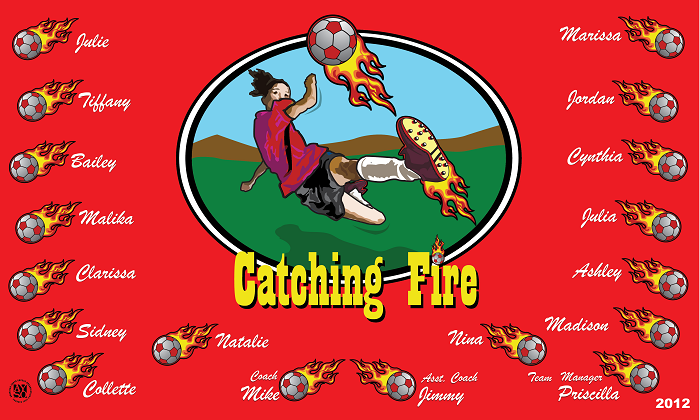 B1031 Catching Fire 3x5 Banner