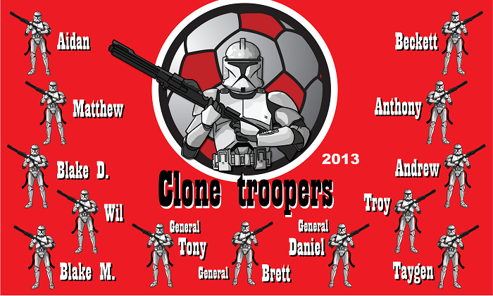B1033 Clone Troopers 3x5 Banner