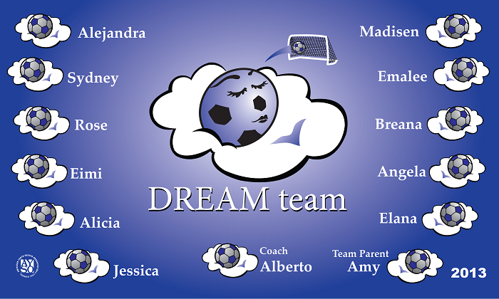B1052 Dream Team 3x5 Banner