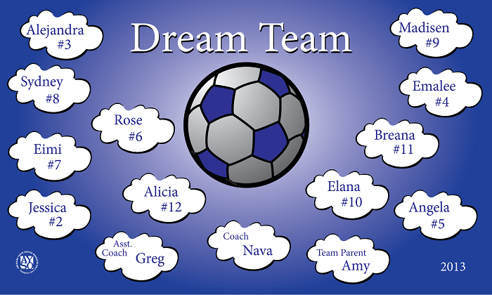B1051 Dream Team 3x5 Banner