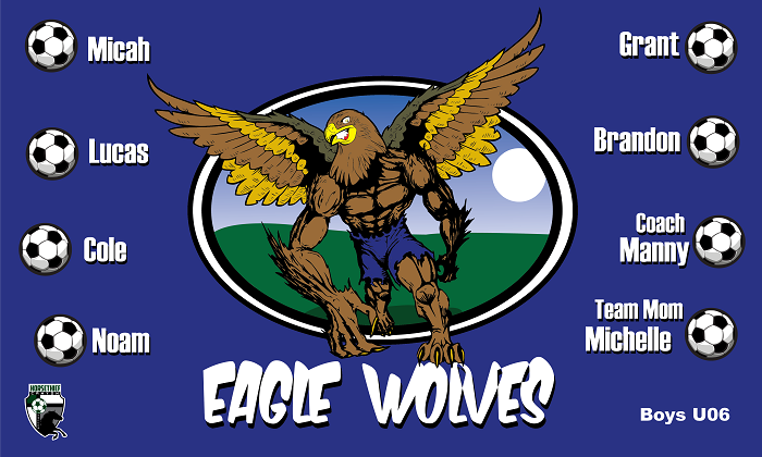 B1054 Eaglewolves 3x5 Banner