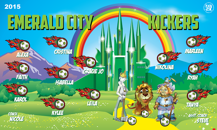 B1277 Emerald City Kickers 3x5 Banner