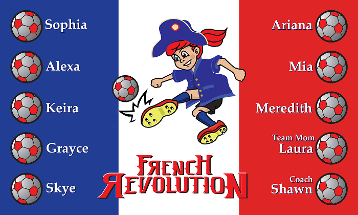 B1066 French Revolution 3x5 Banner
