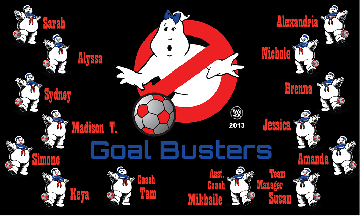 B1073 Goal Busters 3x5 Banner