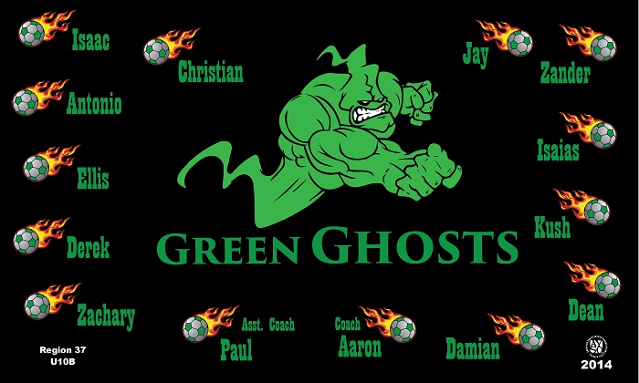 B1084 Green Ghosts 3x5 Banner
