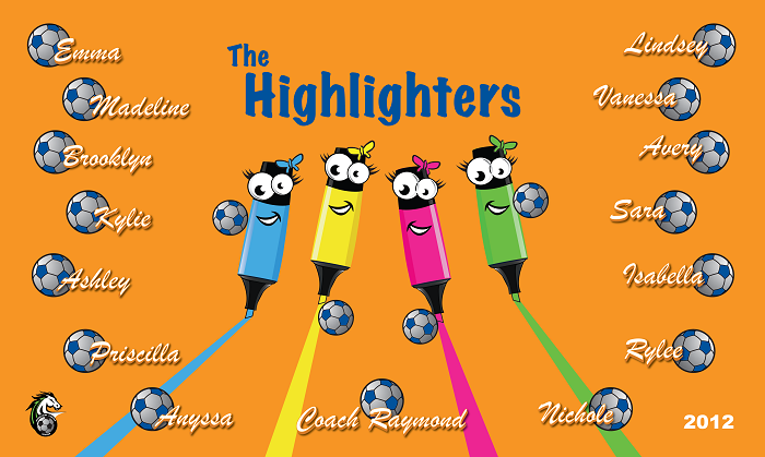 B1092 Highlighters 3x5 Banner