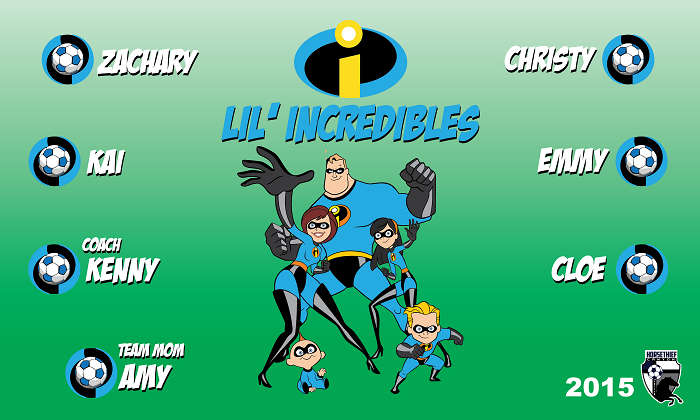 B1304 Lil' Incredibles 3x5 Banner