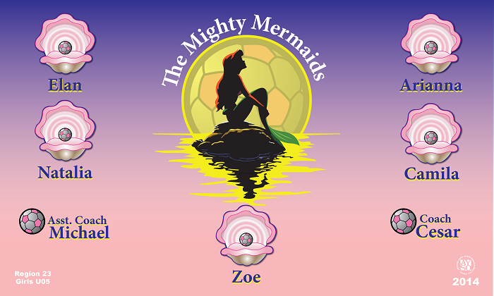 B1106 The Mighty Mermaids 3x5 Banner