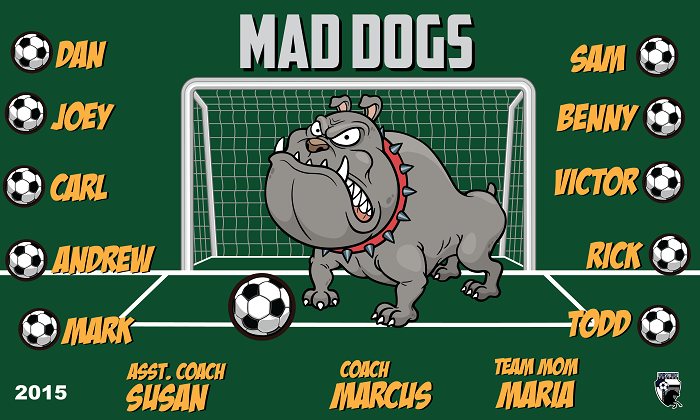 B1511 Mad Dogs 3x5 Banner