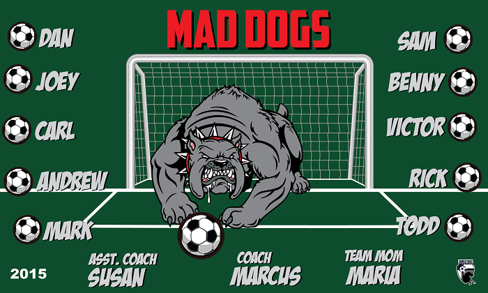 B1525 Mad Dogs 3x5 Banner