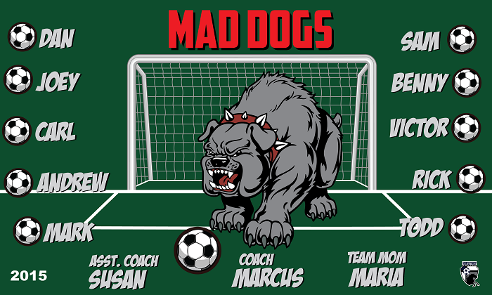 B1532 Mad Dogs 3x5 Banner