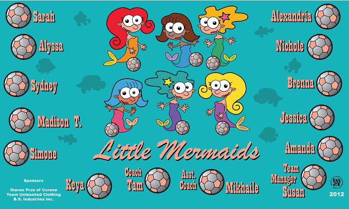 B1112 Little Mermaids 3x5 Banner