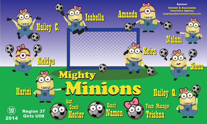 B1114 Mighty Minions 3x5 Banner