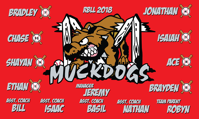 B2188 Muckdogs 3x5 banner