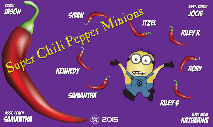 B1308 Super Chili Peppers 3x5 Banner