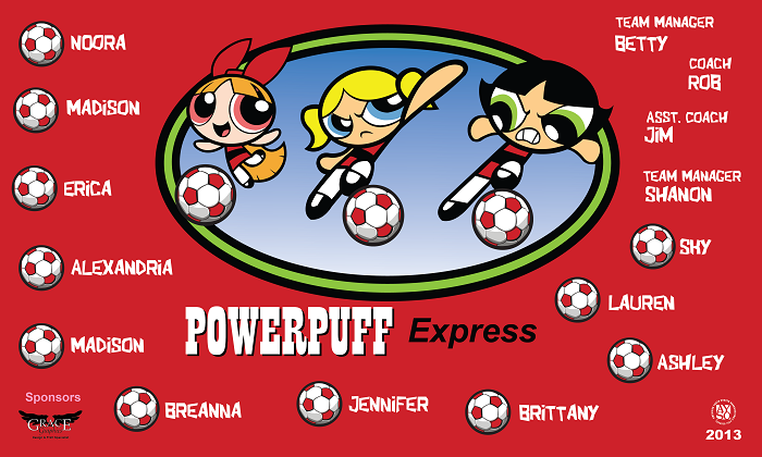 B1139 Power Puff Express 3x5 Banner