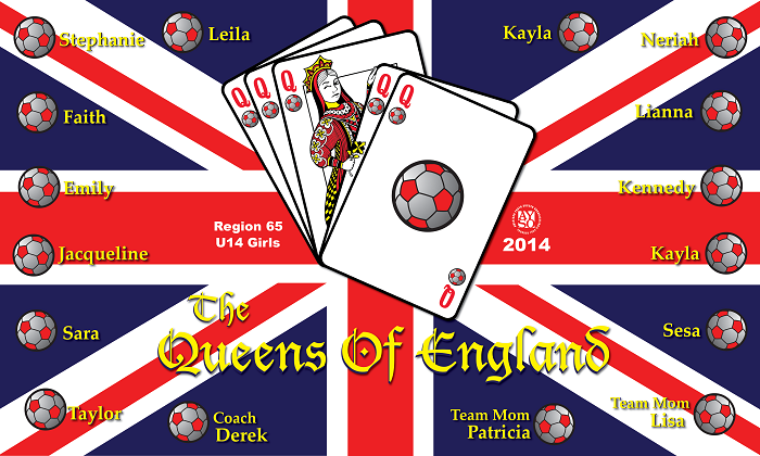 B1147 Queens of England 3x5 Banner