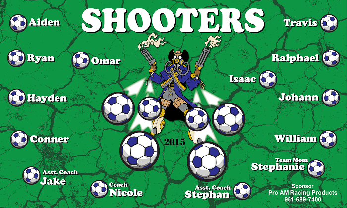 B1324 Shooters 3x5 Banner