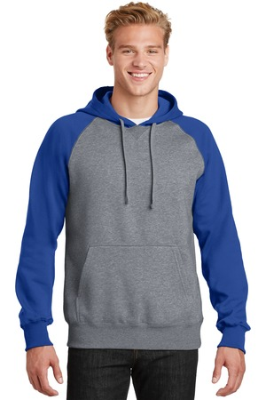 TCWP ST267  True Royal / Vintage Heather Sport-Tek Hooded Jersey