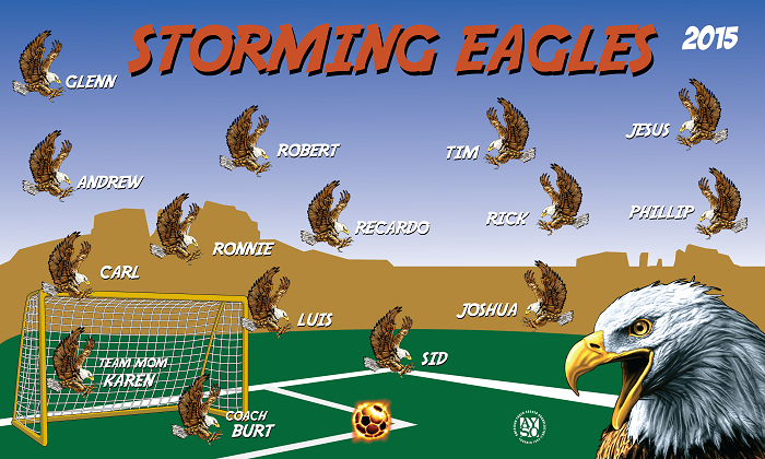 B1385 Storming Eagles 3x5 Banner