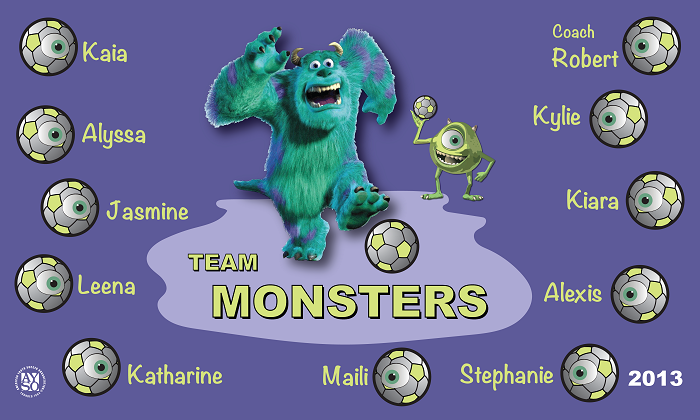 B1118 The Monsters 3x5 Banner