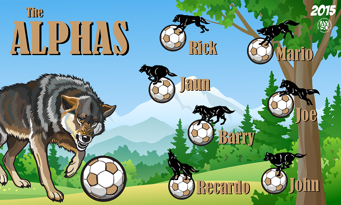 B1370 The Alphas 3x5 Banner