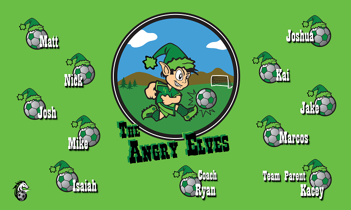 B1196 Angry Elves 3x5 Banner