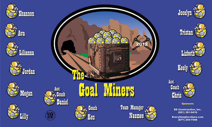 B1201 The Goal Miners 3x5 Banner