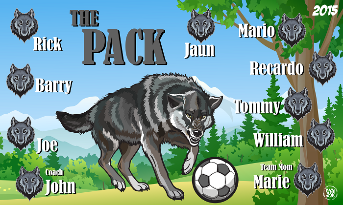B1371 The Pack 3x5 Banner