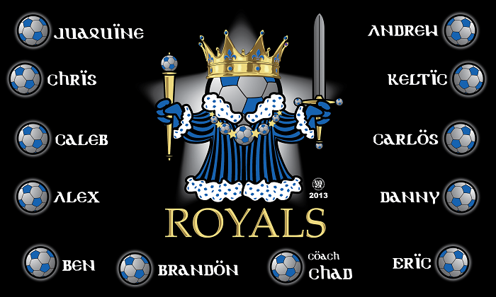 B1211 The Royals 3x5 Banner
