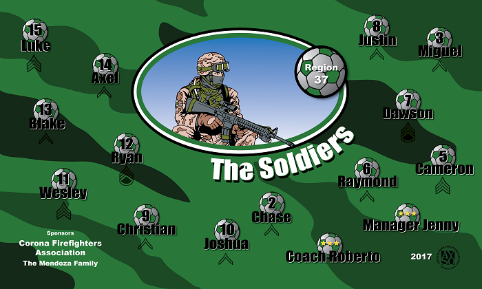 B1213 The Soldiers 3x5 Banner