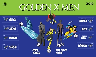 B2358 Golden X-Men 3x5 Banner