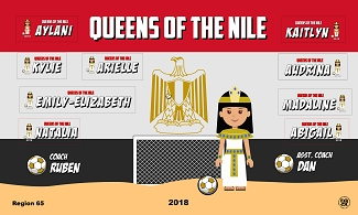 B2377 Queens of the Nile 3x5 Banner