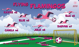 B2381 Flying Flamingos 3x5 Banner